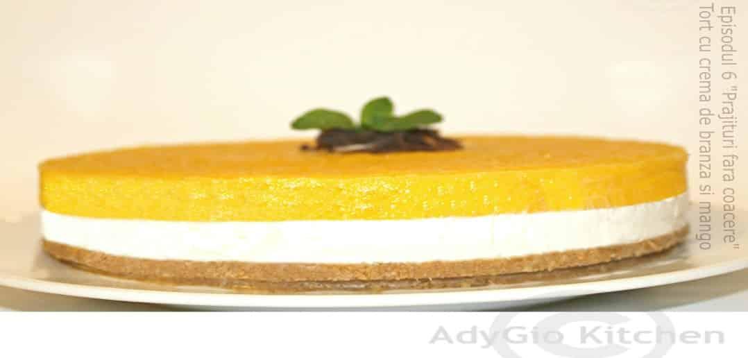 tort cu crema de branza si mango adygio