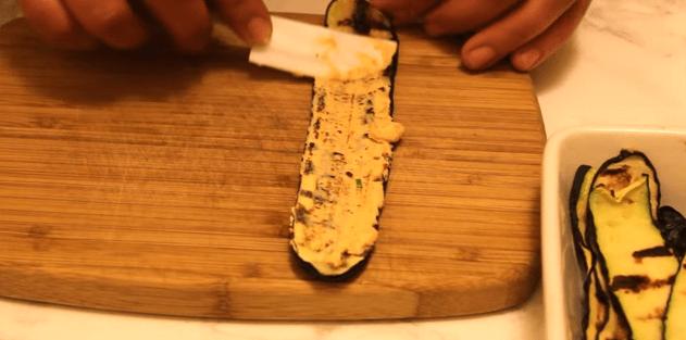 zucchini cu somon asamblare cu mascarpone