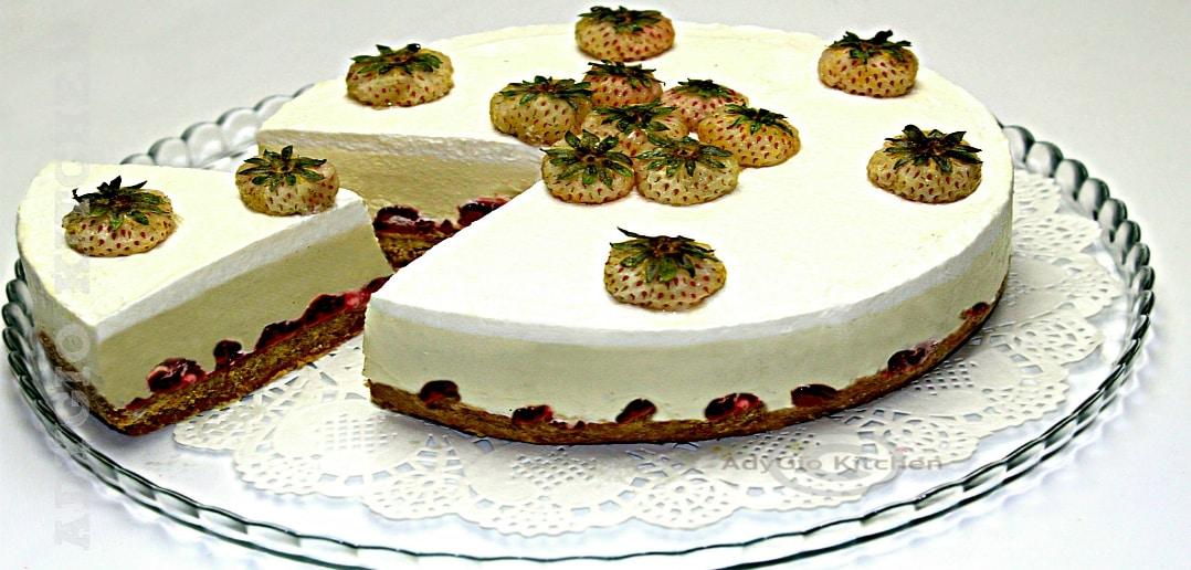 Cheesecake cu ciocolata alba adygio kitchen