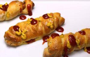 Hot dog la cuptor rezultat final