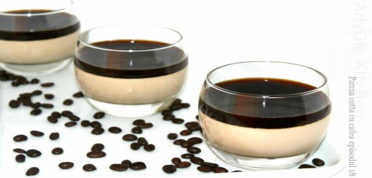 Panna cotta cu cafea reteta video