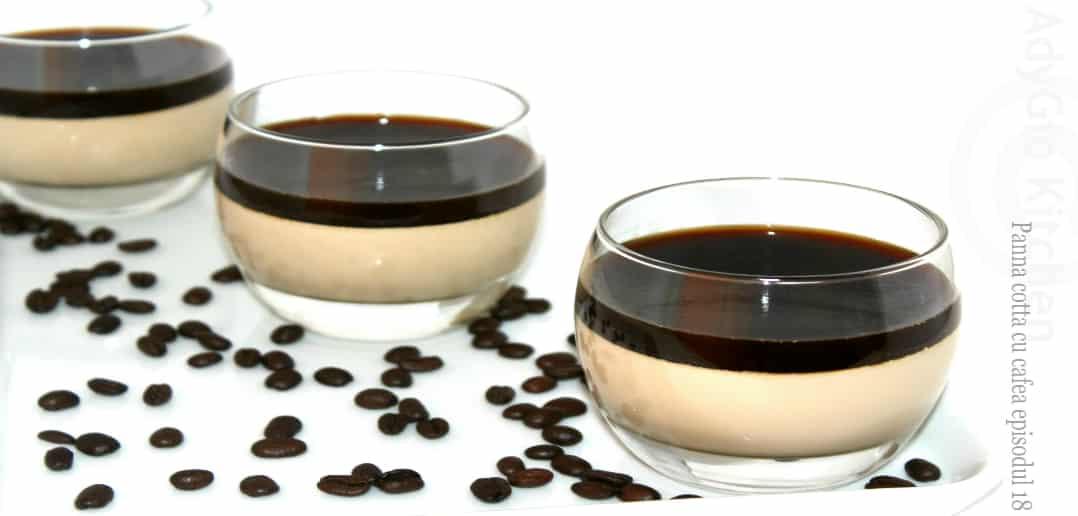 panna cotta cu cafea