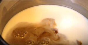 Panna cotta cu cafea linguri
