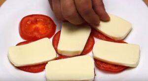 Salata caprese mozzarella peste rosii