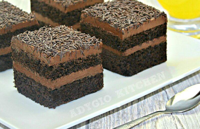 Prajitura Brigadeiro o prajitura de casa cu crema de cacao si lapte condensat