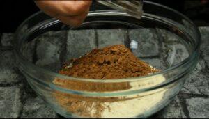 prajitura cu mascarpone si unt de arahide cacao si faina