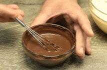 chec pufos cu cacao si cappuccino cacao diluata