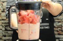 milkshake de pepene rosu amestec