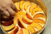 prajitura cu nectarine nectarine