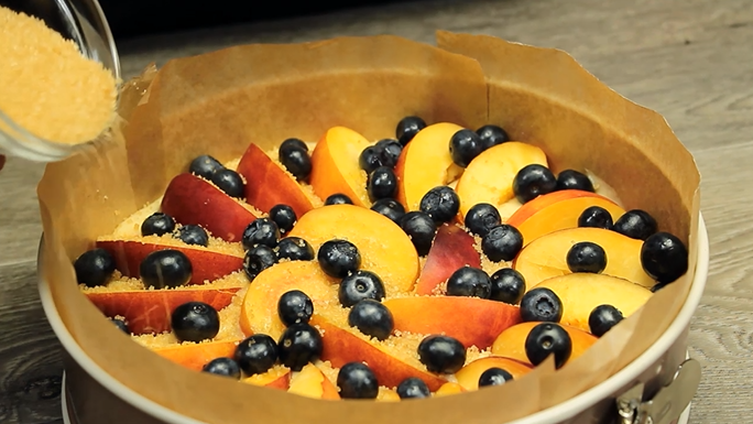 prajitura cu nectarine zahar brun