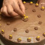 tort fara coacere cu biscuiti decor cu butoni de ciocolata