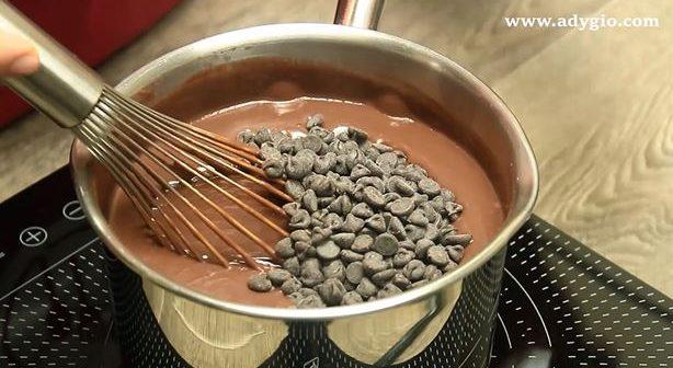 prajitura fara coacere cu ciocolata si frisca ciocolata in crema
