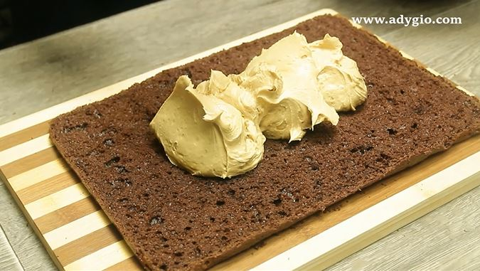 prajitura cu crema de ciocolata si unt de arahide crema arahide