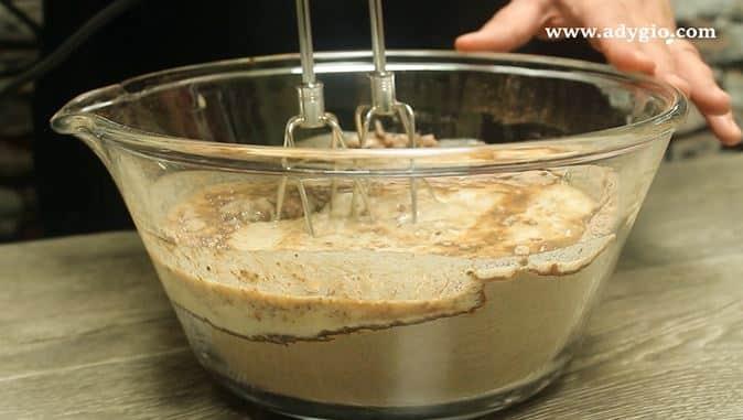 prajitura cu crema de ciocolata si unt de arahide omogenizare