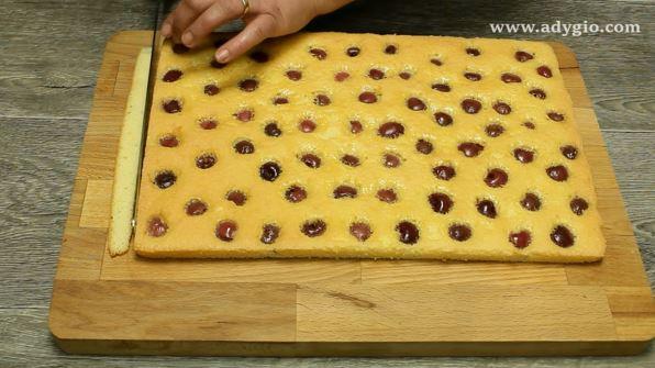 prajitura cu cirese si crema cu cacao blat