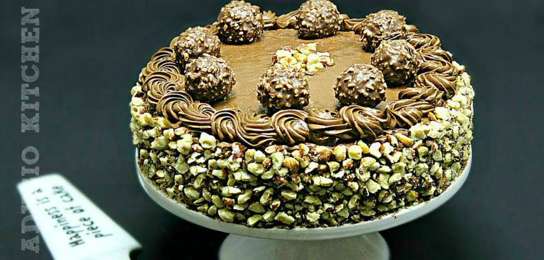 Tort Ferrero Rocher cu ciocolata si alune