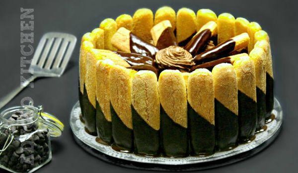 Tort fara coacere cu ciocolata un tort fara coacere cu piscoturi aromate cu rom si glazura de ciocolata