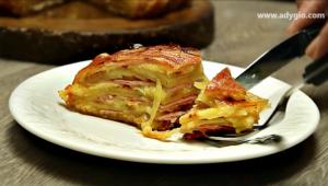 cartofi la cuptor cu bacon felie