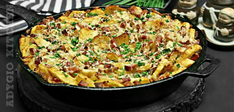 Cartofi cu bacon si parmezan