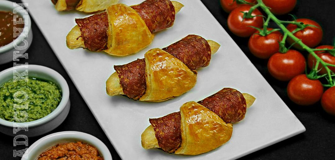 Cornulete aperitiv cu salam adygio kitchen