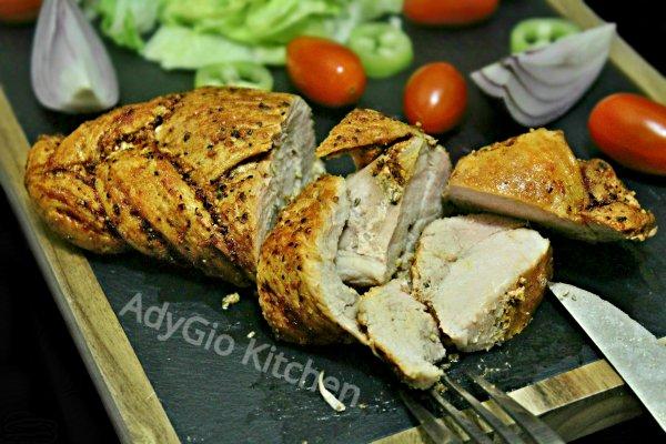 Friptura de porc impletita cu boia si piper