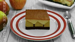 Prajitura cu mere si crema de zahar ars sau tort de mere cu crema de zahar ars