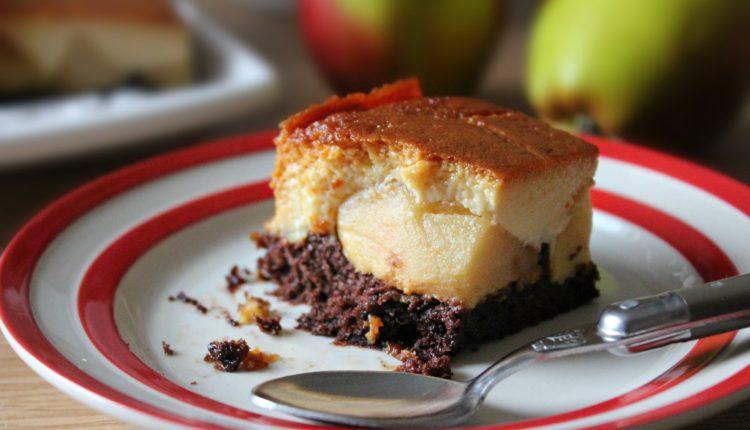 Prajitura cu mere si crema de zahar ars mod de servire