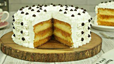 Photo of Tort cu crema de vanilie sau tort Petre Roman