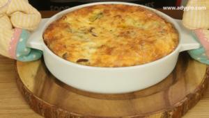omleta la cuptor cu cascaval prima coacere