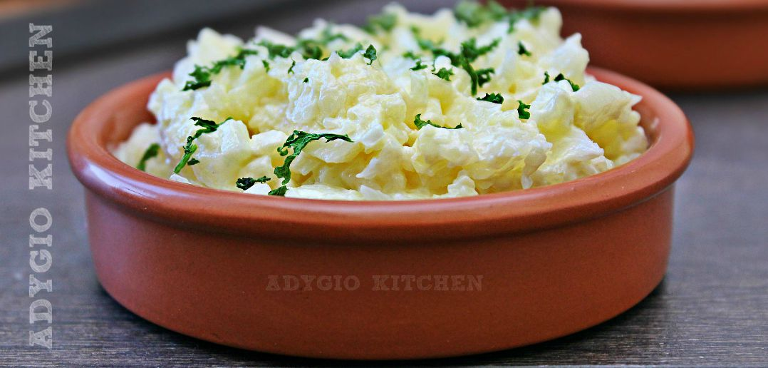 Salata de conopida cu maioneza si iaurt adygio kitchen