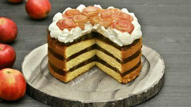 Photo of Tort de mere cu frisca sau prajitura festiva cu mere