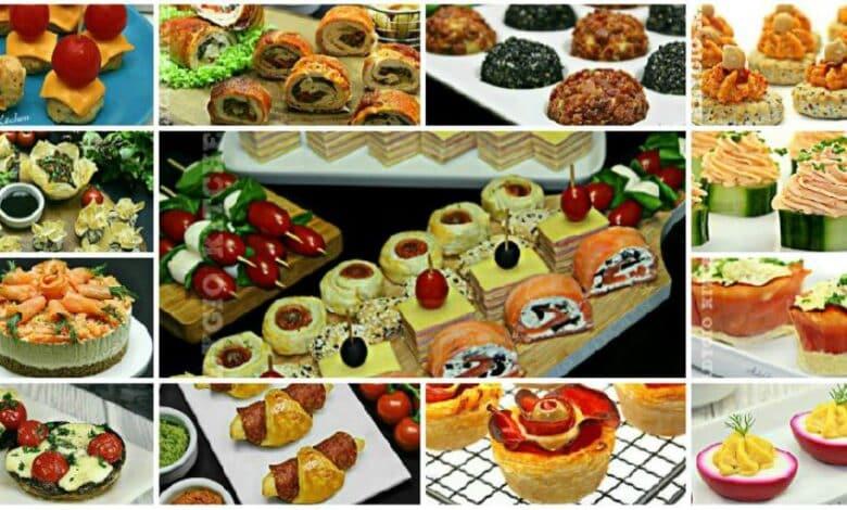 Aperitive , cele mai bune retete de aperitive festive reci sau calde