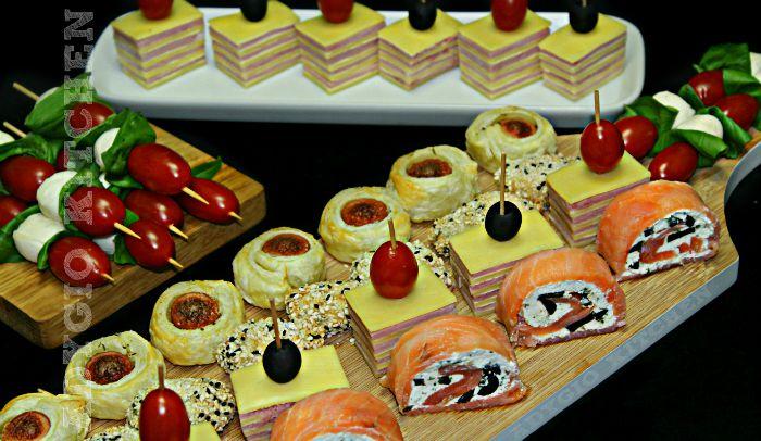 Aperitive de sarbatori si ocazii speciale , platou de aperitive pentru Craciun sau revelion