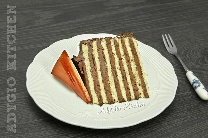 Tort Dobos reteta ungureasca felie de tort adygio