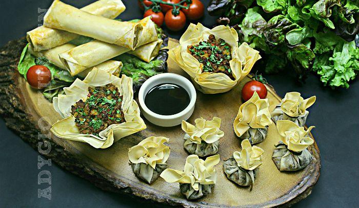 aperitive cu foi subtiri de placinta sau aperitive festive