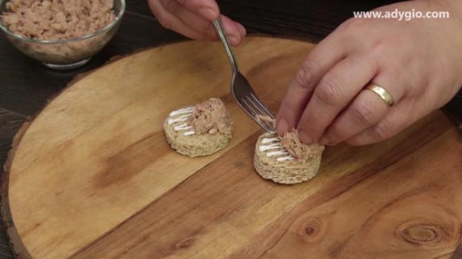 aperitive cu ton si ceapa,ton maruntit