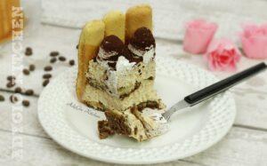 Tiramisu cu caramel si frisca , cum se face tiramisu cu aroma de caramel