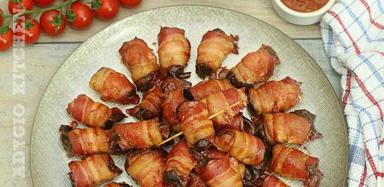 Ficatei de pui cu bacon sau reteta ficatei de pui rumaki