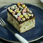 Prajitura Kinder Country cu mascarpone,ciocolata si pufarini