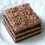 Prajitura Nero cu foi de casa cu cacao si mousse de ciocolata