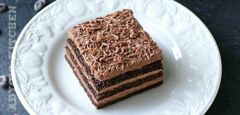 Prajitura Nero cu mousse de ciocolata