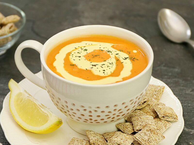 Supa crema de legume cu telina, reteta de post sau cu smantana