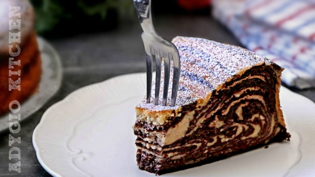 Pasca fara aluat cu cacao, reteta de pasca marmorata cu branza si cacao