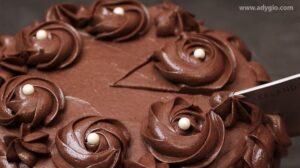 Tort de ciocolata decorat cu aveline de crema de ciocolata