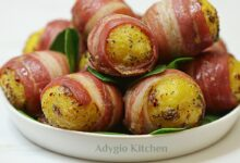 Cartofi aromati in paturica de bacon sau pancetta adygio kitchen