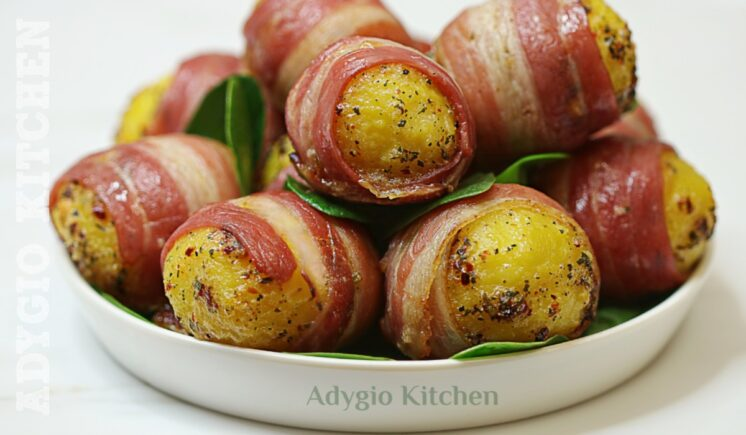 Cartofi aromati in paturica de bacon sau pancetta adygio kitchen