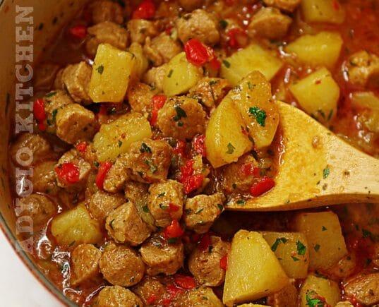 Mancare de post cu soia si cartofi
